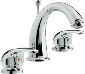 Athena 3 tap hole basin mixer tap + Free pop up waste