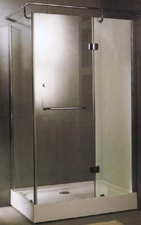 Specials Rectangular shower enclosure with tray & waste (left handed).