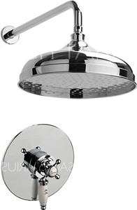 Sagittarius Butler Shower Valve With Arm & 300mm Head (Chrome).