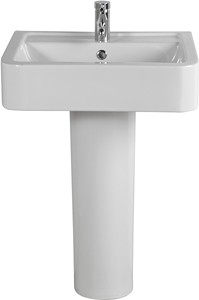 Shires Parisi Basin & Pedestal (1 Tap Hole).  Size 580x460mm.