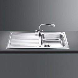 Smeg Sinks Cucina 1.0 Single Bowl Reversible Kitchen Sink With Drainer.