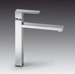 Smeg Taps Tall Kitchen Tap With Single Lever Control (Brushed Stainless Steel).