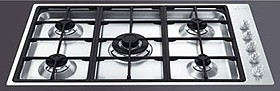 Smeg Gas Hobs Linear Flush Fit 5 Burner Gas Hob. 900mm.
