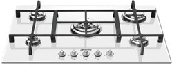 Smeg Gas Hobs Linea 5 Burner Gas Hob. 74cm (White Glass).