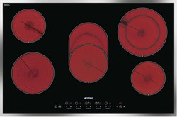 Smeg Ceramic Hobs 5 Ring Touch Control Ceramic Hob & Thin Frame. 77cm.