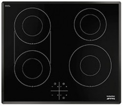 Smeg Induction Hobs 4 Ring Induction Hob With Angled Edge. 60cm.