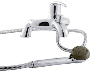 Allure Single lever deck mounted bath shower mixer