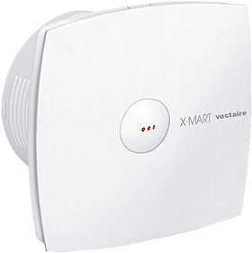 Vectaire X-Mart Auto Extractor Fan With Timer. 150mm (White).