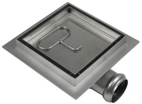 Waterworld Stainless Steel Wetroom Tile Drain With Frame. 100x100mm.