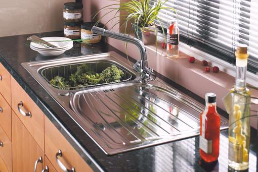 Example image of Astracast Sink Alto 1.0 bowl satin polished kitchen sink.