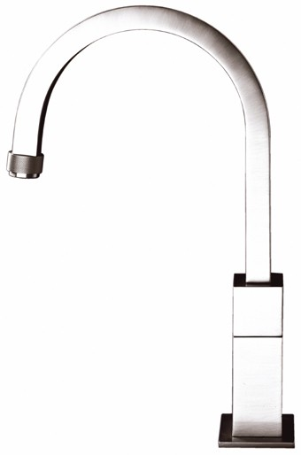 Larger image of Astracast Nexus Bellino brushed steel  kitchen tap with progression valve.