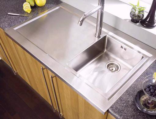 Example image of Astracast Sink Bistro 1.0 bowl sit on work centre with left hand drainer & extras.