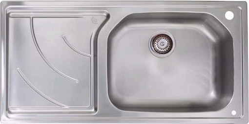 Larger image of Astracast Sink Echo 1.0 bowl stainless steel kitchen sink with left hand drainer.
