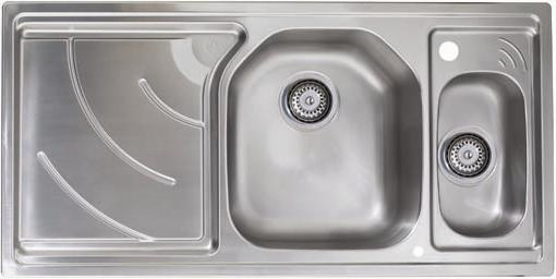 Larger image of Astracast Sink Echo 1.5 bowl stainless steel kitchen sink with left hand drainer.