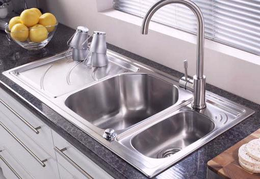 Example image of Astracast Sink Echo 1.5 bowl stainless steel kitchen sink with left hand drainer.