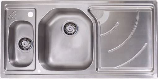 Larger image of Astracast Sink Echo 1.5 bowl stainless steel kitchen sink with right hand drainer.