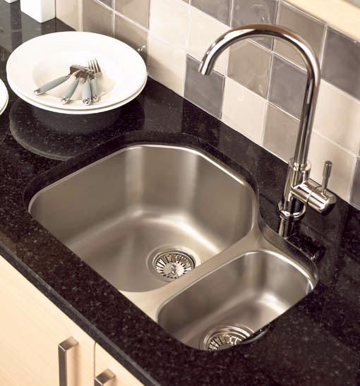 Example image of Astracast Sink Echo D1 1.5 bowl right handed stainless steel kitchen sink.