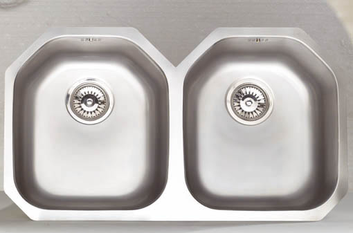 Larger image of Astracast Sink Echo D2 double bowl stainless steel kitchen sink.