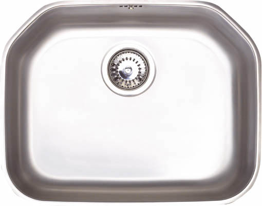 Larger image of Astracast Sink Echo S2 large bowl polished steel undermount kitchen sink.