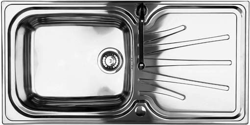 Larger image of Astracast Sink Korona 1.0 bowl polished stainless steel kitchen sink.
