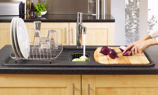 Example image of Astracast Sink Korona 1.5 bowl rok metallic black composite kitchen sink.