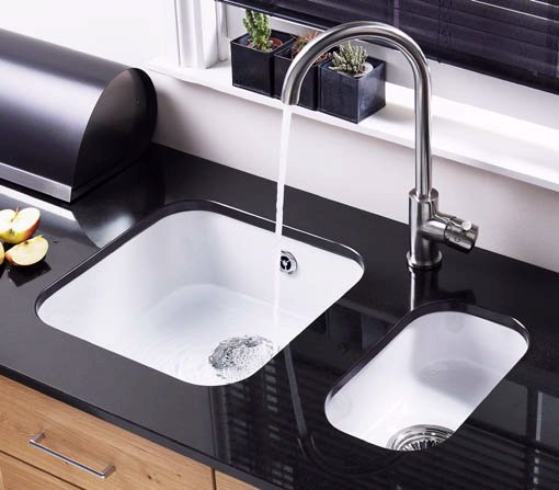 Example image of Astracast Sink Lincoln undermount ceramic kitchen half-bowl.