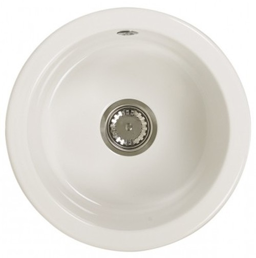 Larger image of Astracast Sink Lincoln round undermount ceramic kitchen bowl.