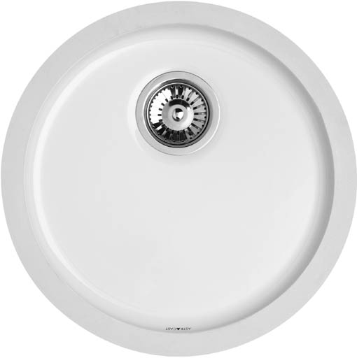 Larger image of Astracast Sink Lincoln round undermount ceramic drainer.