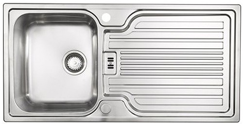 Larger image of Astracast Sink Montreux 1.0 bowl brushed stainless steel kitchen sink & Extras.
