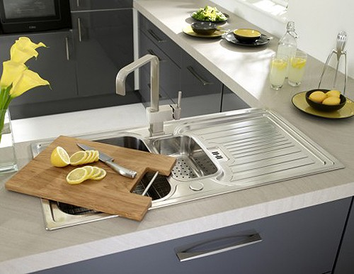 Example image of Astracast Sink Montreux 1.5 bowl brushed stainless steel kitchen sink & Extras.