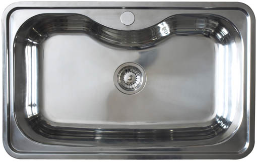 Larger image of Astracast Sink Olympus 1.0 bowl polished stainless steel kitchen sink.