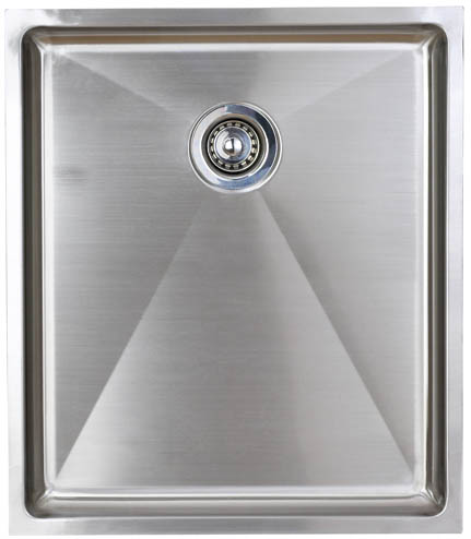 Larger image of Astracast Sink Onyx flush inset kitchen drainer in brushed steel finish.