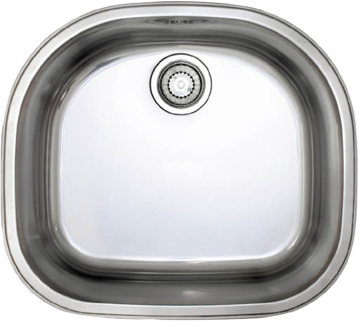 Larger image of Astracast Sink Opal D1 arched bowl polished steel undermount kitchen sink.