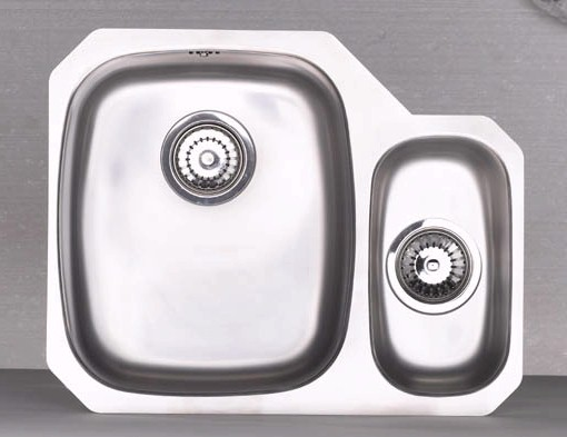 Larger image of Astracast Sink Opal S3 1.5 bowl right handed stainless steel kitchen sink.