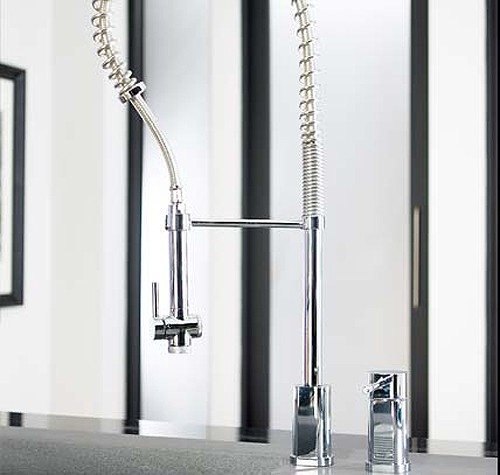 Example image of Abode Alto Duo 2 Tap Hole Professional Kitchen Tap (Chrome).