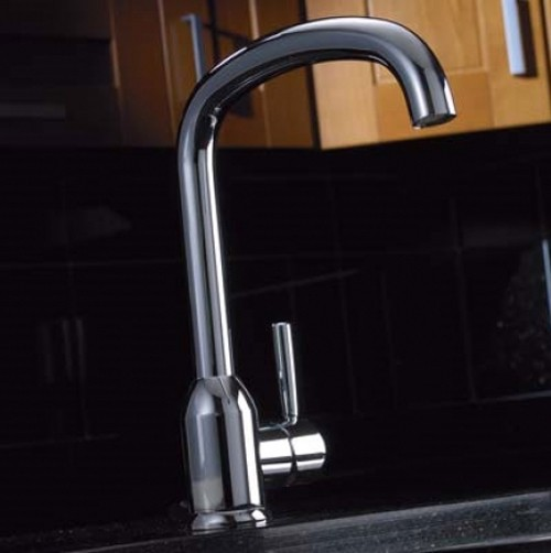 Larger image of Abode Tate Monobloc Kitchen Tap With Swivel Spout (Chrome).