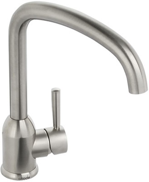 Larger image of Abode Tate Monobloc Kitchen Tap With Swivel Spout (Brushed Nickel).