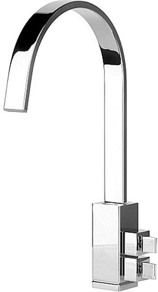 Larger image of Abode Graffik Monobloc Kitchen Tap With Swivel Spout (Chrome).