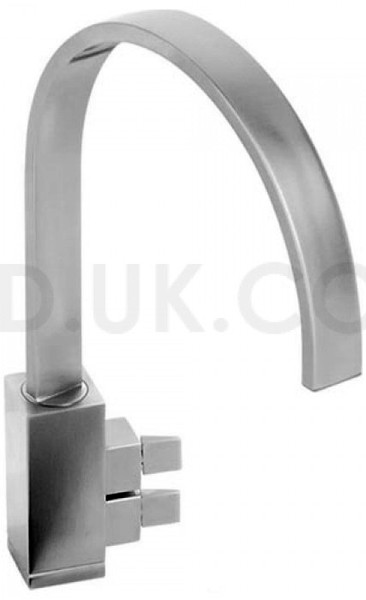 Larger image of Abode Graffik Monobloc Kitchen Tap With Swivel Spout (Brushed Nickel).