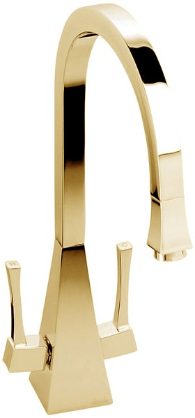 Larger image of Abode Decadence Dual Lever Kitchen Tap (Gold).