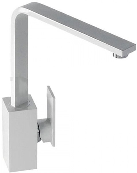 Larger image of Abode Media Monobloc Kitchen Tap With Swivel Spout (Gloss White).