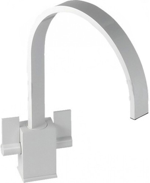Larger image of Abode Atik Monobloc Kitchen Tap With Swivel Spout (Gloss White).