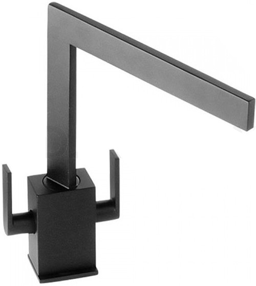 Larger image of Abode Edge Monobloc Kitchen Tap With Swivel Spout (Granite Black).