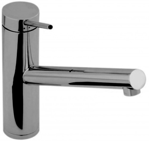 Larger image of Abode Pluro Single Lever Kitchen Tap With Swivel Spout (Brushed Nickel).