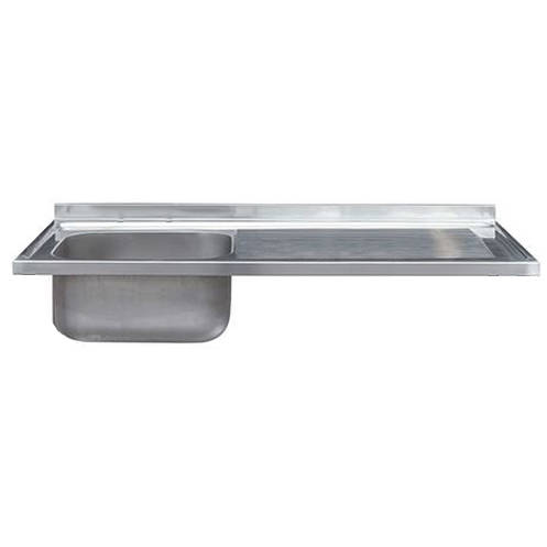 Larger image of Acorn Thorn Catering Single Bowl Sink With RH Drainer 1200mm (S Steel).