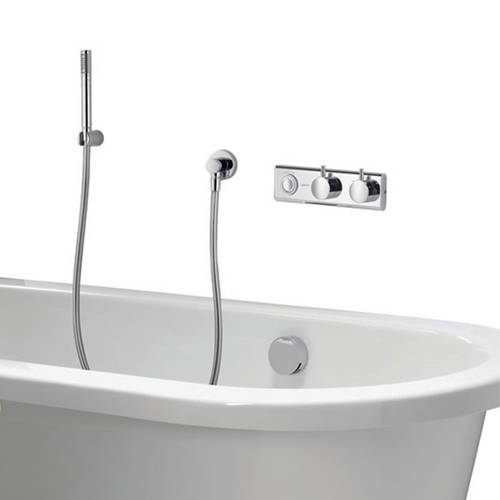 Example image of Aqualisa HiQu Digital Bath Valve Kit 12 With Bath Filler & Shower Kit (Gravity).