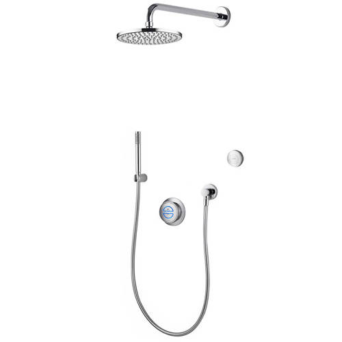 Larger image of Aqualisa Rise Digital Shower With Remote, Hand Shower & Fixed Head (GP).