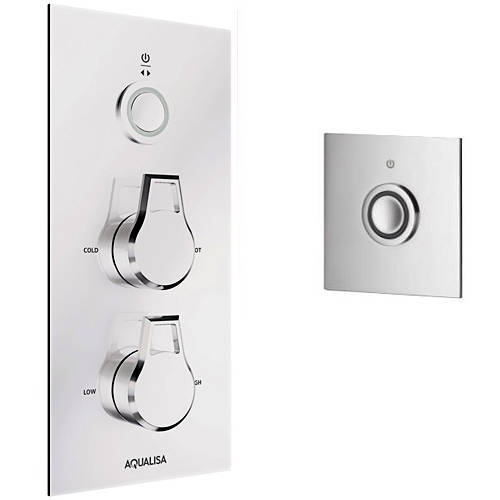 Larger image of Aqualisa Infinia Digital Shower & Remote (Chrome Astratta Handles, GP).