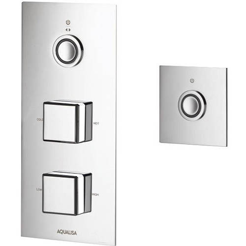 Larger image of Aqualisa Infinia Digital Shower & Remote (Chrome & White Piazza Hand, HP).