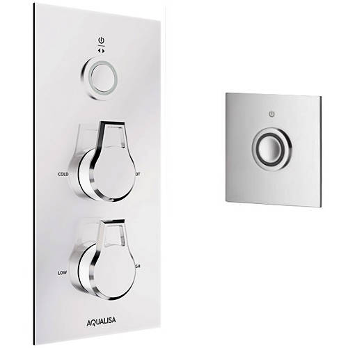 Larger image of Aqualisa Infinia Digital Shower, Remote (Chrome & White Astratta Handles, GP).